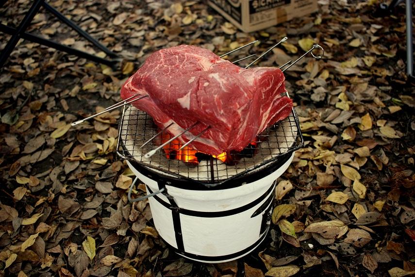 2kgの塊肉を焼いてきたぞい