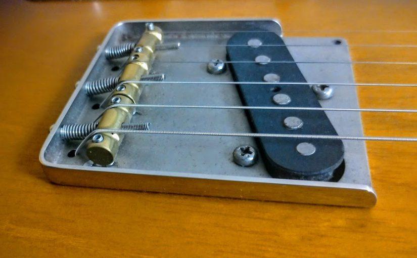 【自作ギター】テレキャスコンポーネント(1) 「きっかけはブリッジプレート」